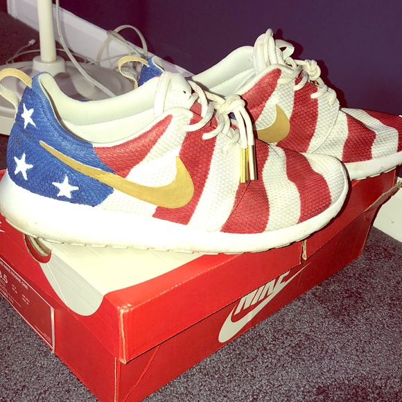 Poshmark Amerikaanse Sneakers vlag schoenen Nike Handgemaakte q81XPx8w